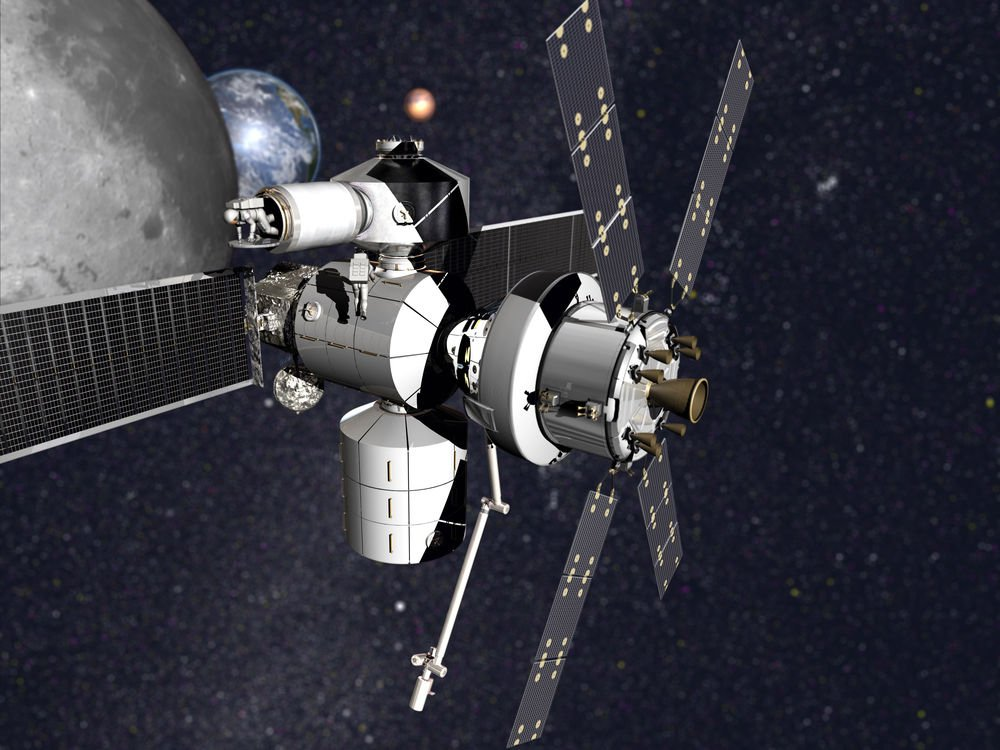 Concept of Lockheed Martin's NextSTEP-2 habitat with Orion.