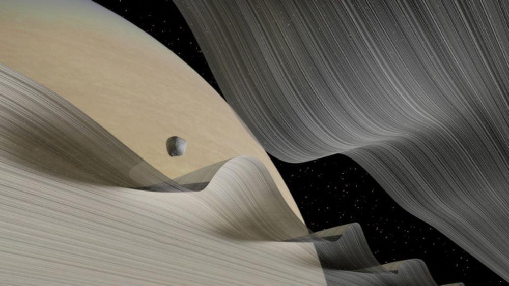 Keeler aralığındaki Daphnis
