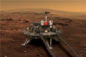 Çinin Mars gezgin ve keşif robotu altı tekerli, 13 parça yük taşıma kapasiteli ve 200kg ağırlığında olacak (SASTIND/Xinhua)