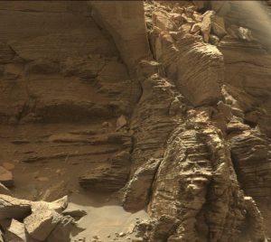 Murray Tepesi Curiosity, Mars görevindeki dört yılda 14,1 kilometre yol aldı.