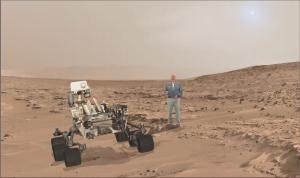 Buzz Aldrin'in hologramı eşliğinde Mars turu