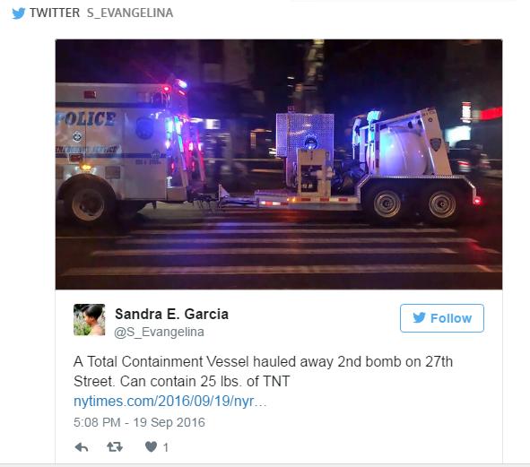 """Sandra E. Garcia, """"Genel Önleme Tankı 27. Sokak'ta ikinci bombayı taşıyor. İçinde 10 kilodan fazla TNT var."""""""