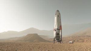 Daedalus uzay aracı kurgusu SpaceX'in Gezegenler Arası Taşıma Sistesi konseptinden çok uzak değil, şirket gelecekte Mars'ı kolonileştirmemize yardımcı olacağını umuyor. Bu arada, betimlenmiş tasarım hemen hemen NASA'nın aklındaki Mars'a insan taşıma sistemiyle uyumlu.