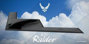 """B-21 Raider Konsept Çizimi """"Raider"""" için sıradışı bir font seçimi"""