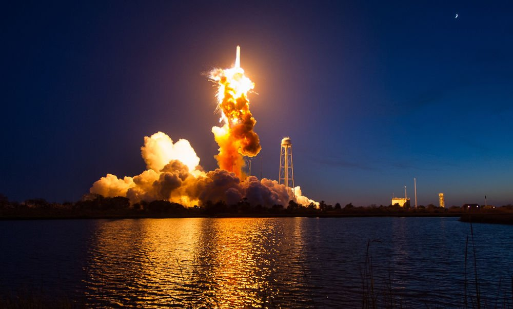 The Orbital ATK Antares rocket, with the Cygnus spacecraft onboard suffers a catastrophic anomaly moments after launch from the Mid-Atlantic Regional Spaceport Pad 0A, Tuesday, Oct. 28, 2014, at NASA's Wallops Flight Facility in Virginia. The Cygnus spacecraft was filled with supplies slated for the International Space Station, including science experiments, experiment hardware, spare parts, and crew provisions. Photo Credit: (NASA/Joel Kowsky)