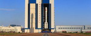 Tiangong-2 fırlatma rampasında