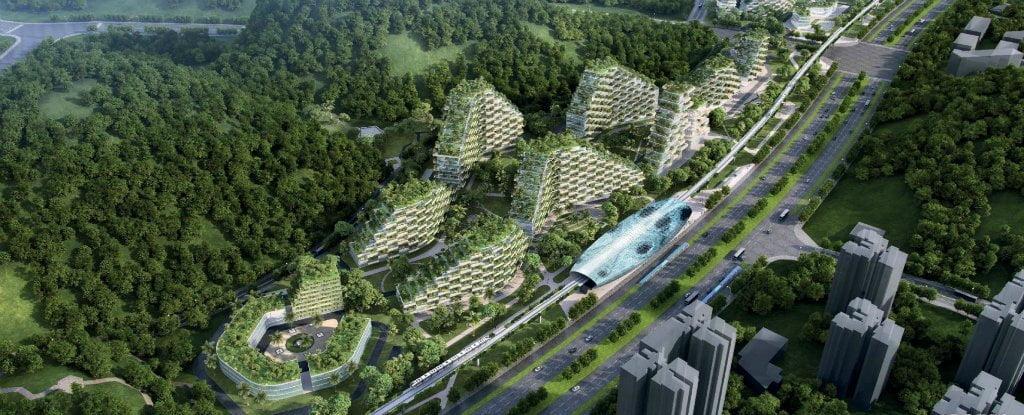 Çin Dünya'nın İlk 'Orman Şehri'ni Resmî Olarak İnşa Etmeye Başladı